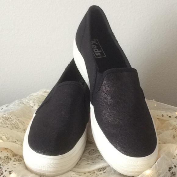 2ab7defc026 Keds Shoes - Keds Triple Decker Metallic Linen Slip-On Sneaker